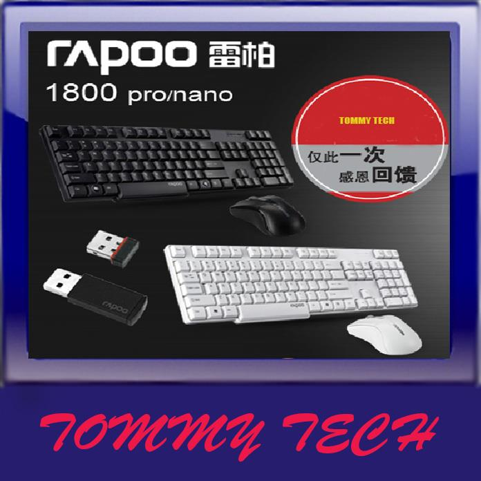 ORIGINAL RAPOO 1800PRO wireless multimedia keyboard and mouse