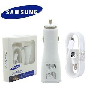 Original Samsung Fast Charging Car Charger WHITE