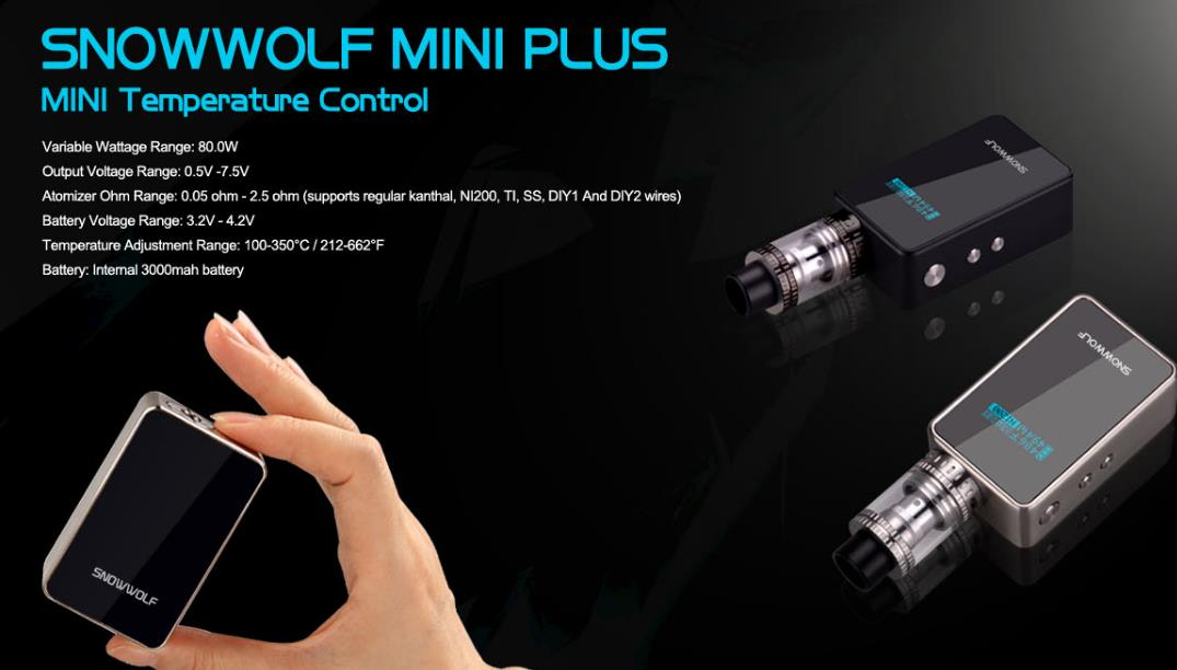 Original Snow Wolf Mini Plus 80W by Laisimo Box Mod TC Snowwolf