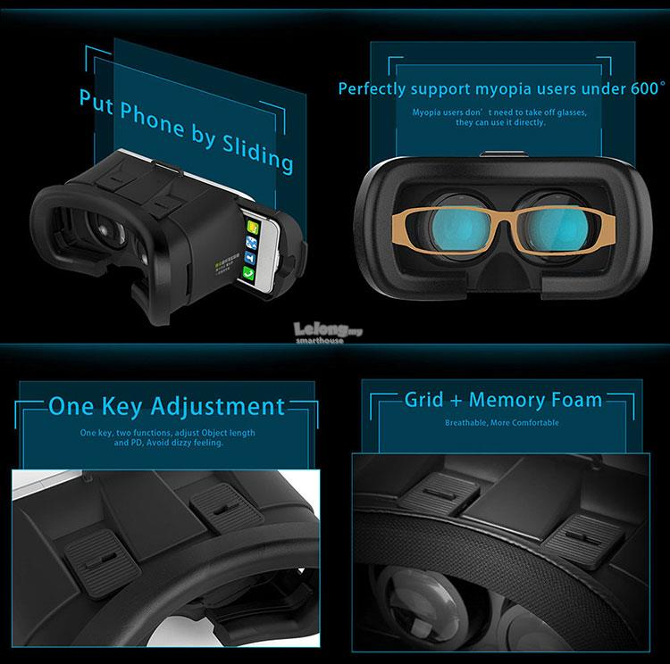 Original VR BOX 2 Holbrook 3D Glasses Virtual Reality Headset Gear