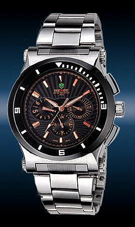 ORIGINAL WEIDE WH-915-3 SWISS ISA ENGINE MULTIFUNCTIONAL S.STEEL WATCH