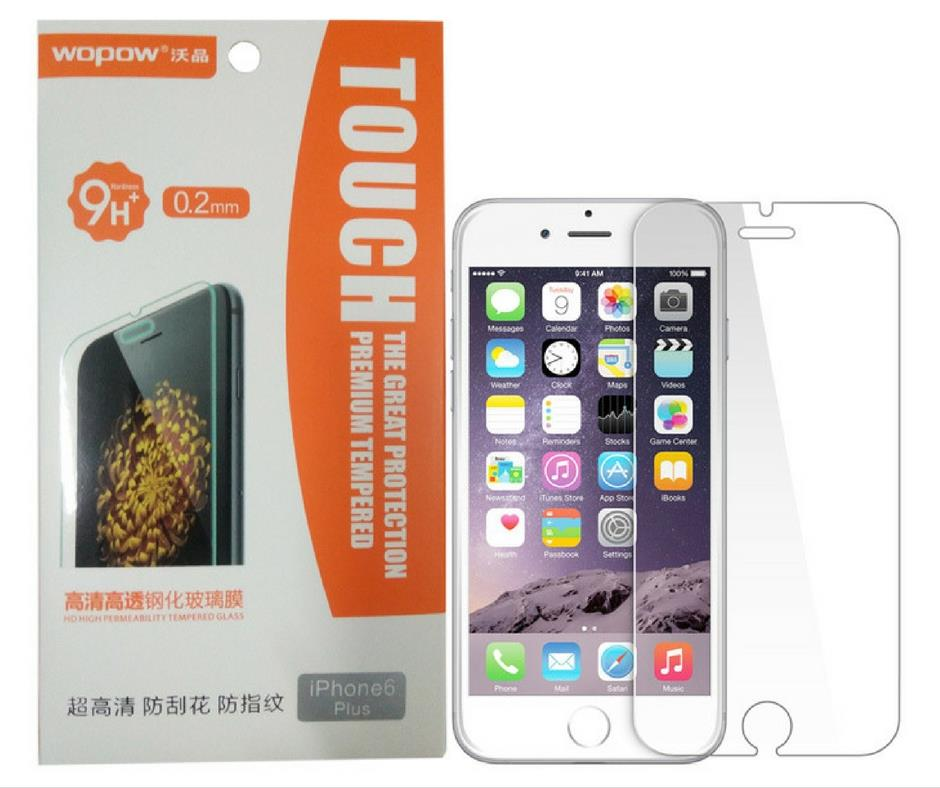 Original Wopow HD Iphone 6/6 Plus Tempered Glass Screen Protector