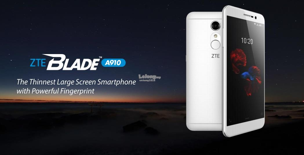 (ORIGINAL) ZTE WARRANTY ZTE BLADE A910 5.5' SUPER SLIM AMOLED