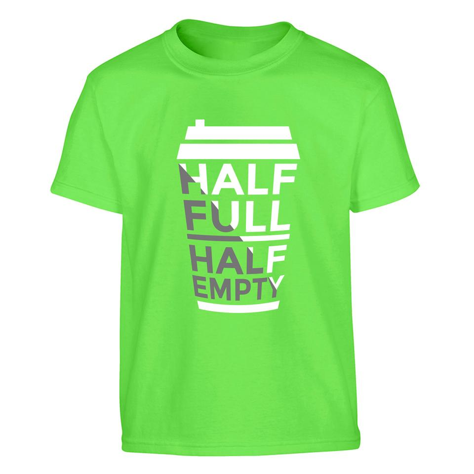 OS526K OSUMMER Half Full Half Empty Kids T-shirt