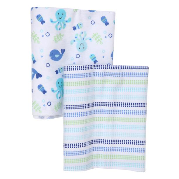 OWEN Baby 2pc Receiving Blankets - Blue