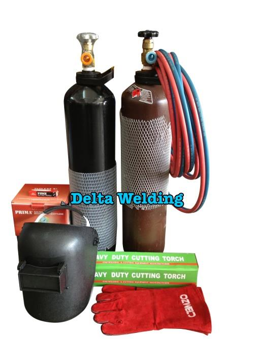 Oxy Acetylene Welding Gas Cutting Portable Set With Trolley