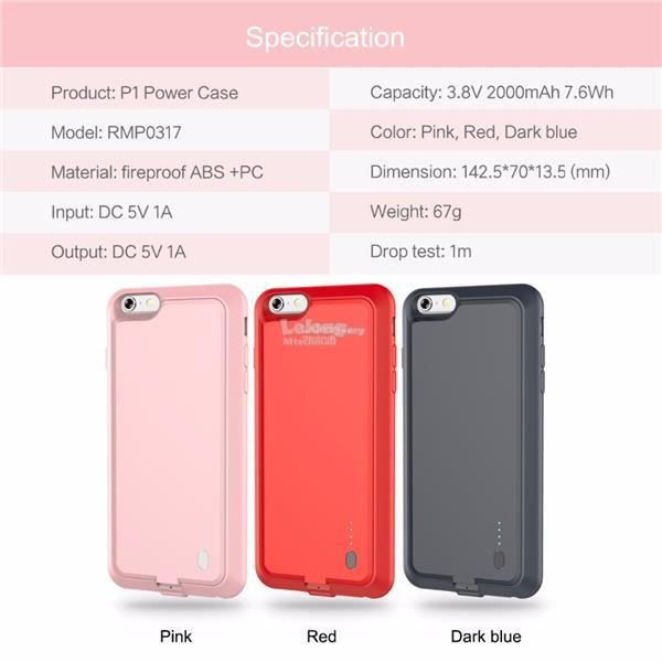 P1 iPhone 6 6S Slim Power Case Power Bank Cover