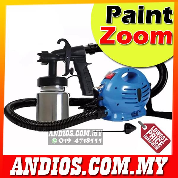 Paint Zoom Electric 3-Way Spray Gun-Cat Rumah Elektrik Sprayer