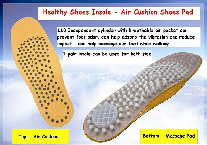 A Pair of Independent Cylinder Air Cushion Insole