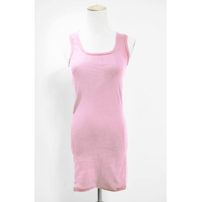 Pakaian Wanita Long Singlet Light Pink Color