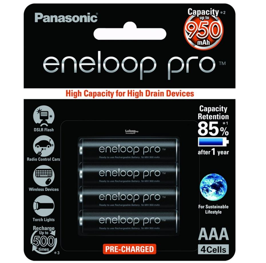 Panasonic Eneloop Pro Quick Charger 3-Color LED Pro AAA Bundle Battery