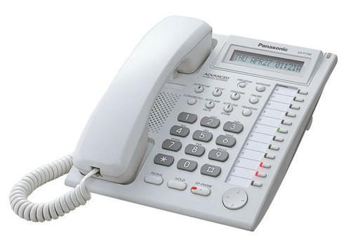 Panasonic Hybrid System Corded Telephone Key Phone KX-T7730 (White)
