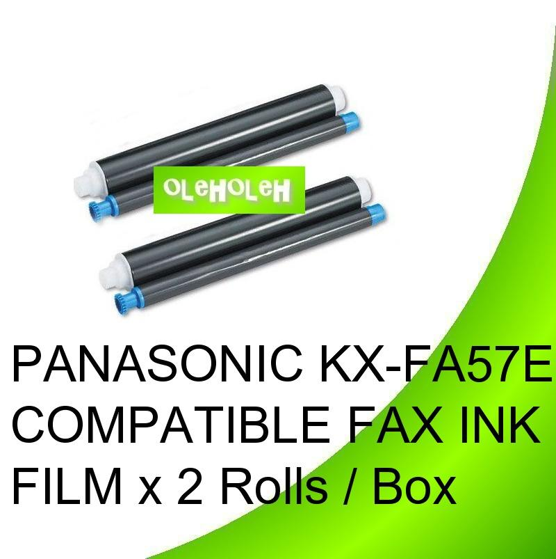 PANASONIC KX-FA57E COMPATIBLE FAX INK FILM x 2 Rolls / Box