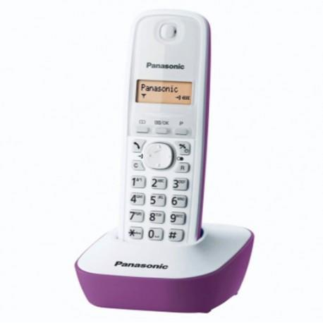 Panasonic KX-TG1611MLF Digital Cordless Phone - Purple
