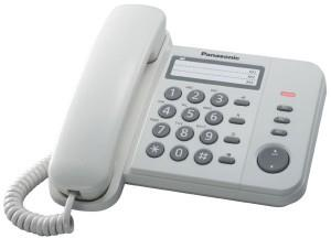 Panasonic Single Line Telephone KX-TS520 (White)