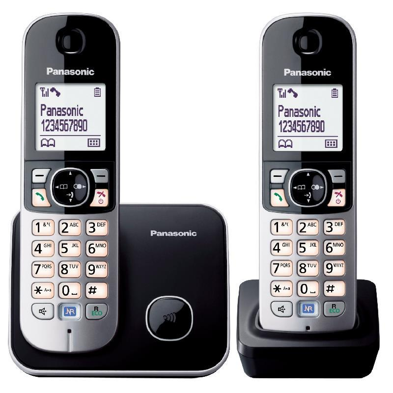 Panasonic Twin DECT phone with Power backup KX-TG6812