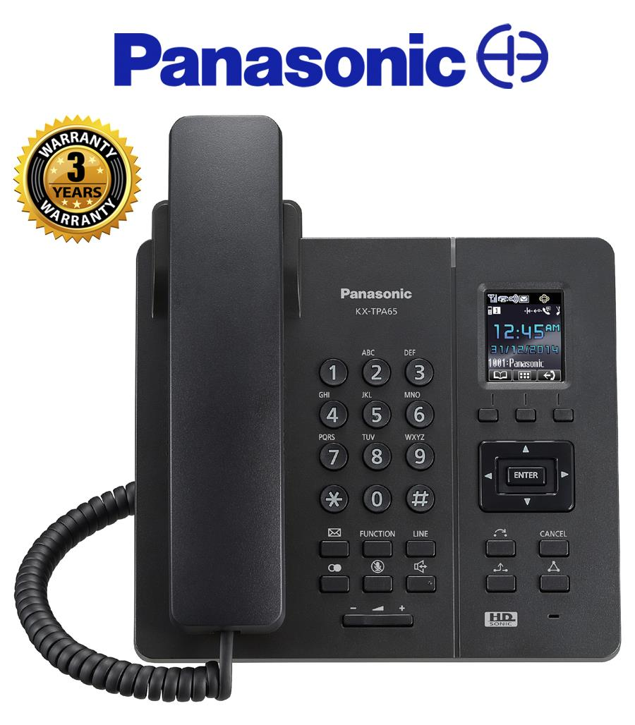 Panasonic Wireless SIP Desktop DECT Phone KX-TPA65UKB TPA65