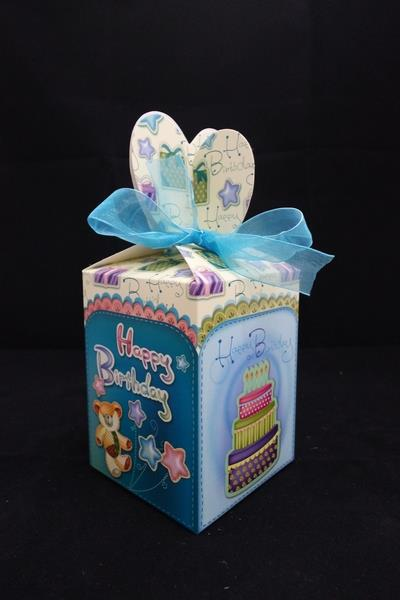 Paper Party Box with Ribbon (12 pcs/pkt)
