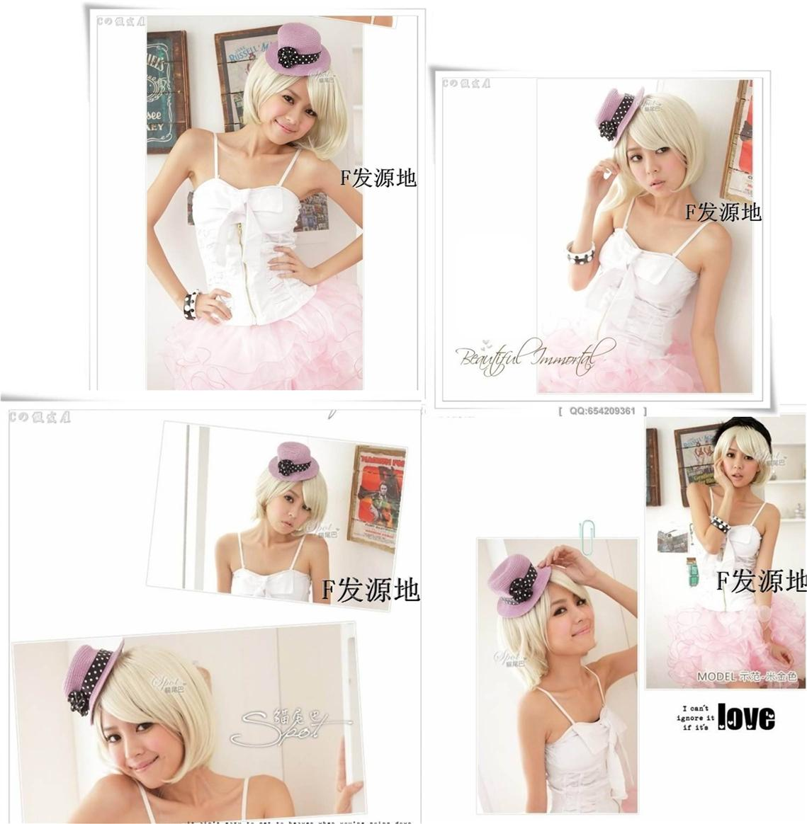 Party Cosplay Blonde Wig*  ready stock-rambut palsu