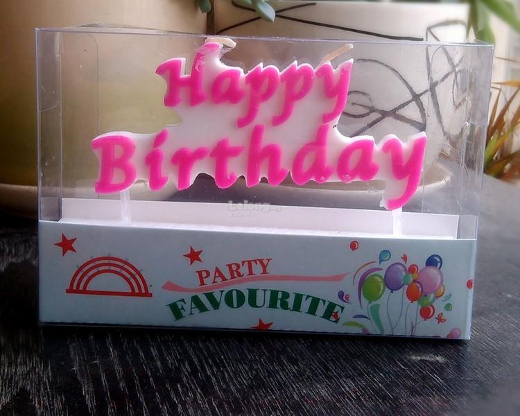 Party 'Happy Birthday' Candle Set