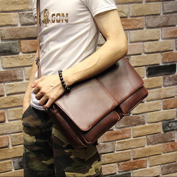 New pattern male business shoulder cross-section handbag
