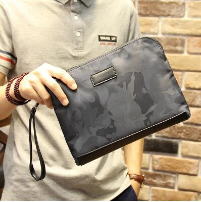 New pattern men high-grade camouflage oxford cloth clutch bag