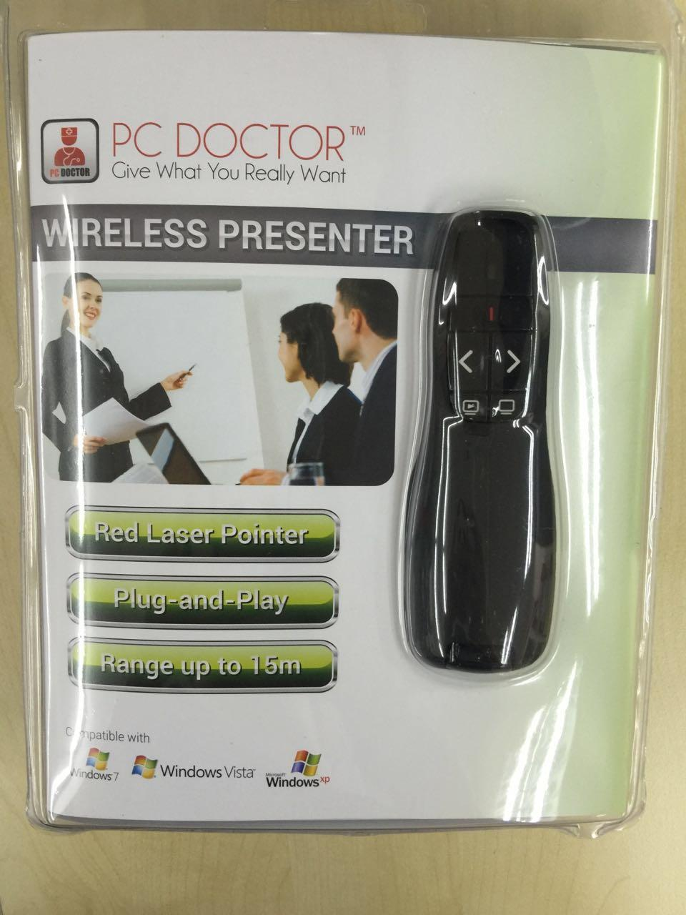 PC DOCTOR RED LASER POINTER 2.4GHZ CORDLESS PRESENTER, PP06