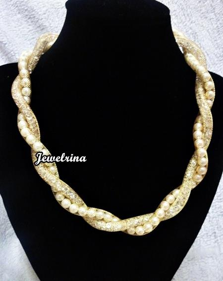 Pearl  Statement Necklace  (Free Shipping)