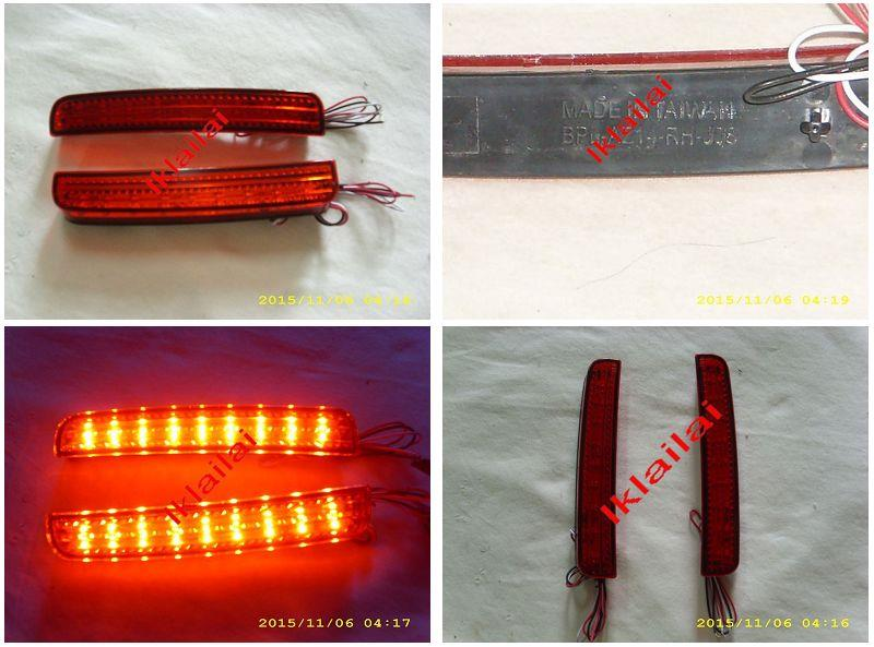 Perodua Alza '14 Rear Bumper Reflector with LED [Red Lens]