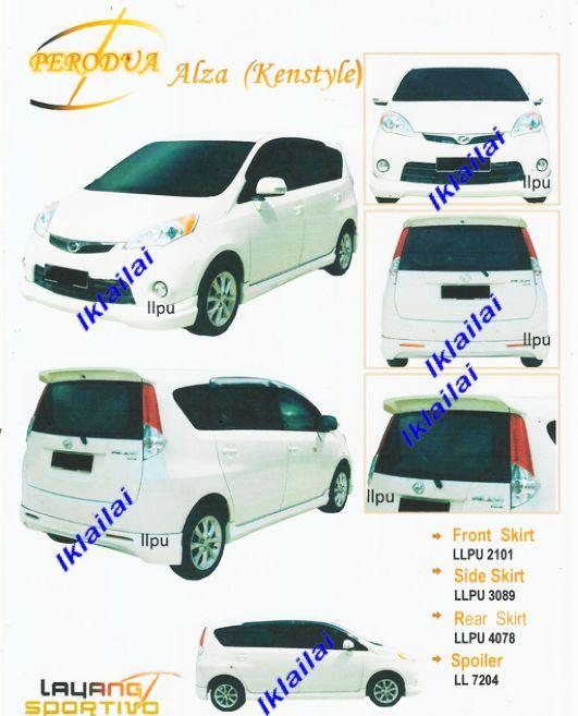 Perodua Alza Kenstyle Full Set Body Kit PU Material