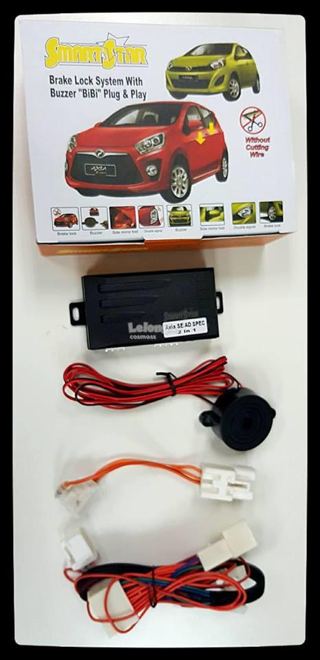 PERODUA AXIA 2 in 1 BRAKE LOCK + BUZZER