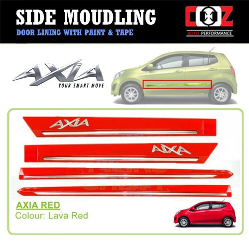 Perodua Axia Side Door Moulding / Body Lining - Lava-Red
