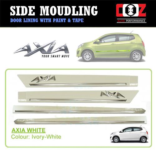 Perodua Axia Side Door Moulding / Body Lining - Lvory-White