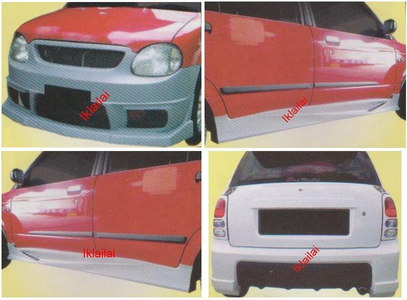 Perodua Kelisa AXIS/GINO/VOLTEX Front+Rear Bumper+Side Skirt Body Kit