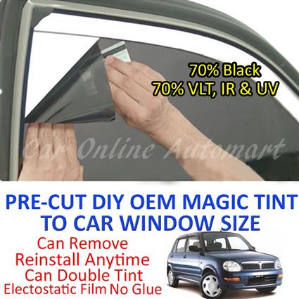 Perodua Kelisa Magic Tinted Solar Window ( 4 Windows & Rear Window ) 7