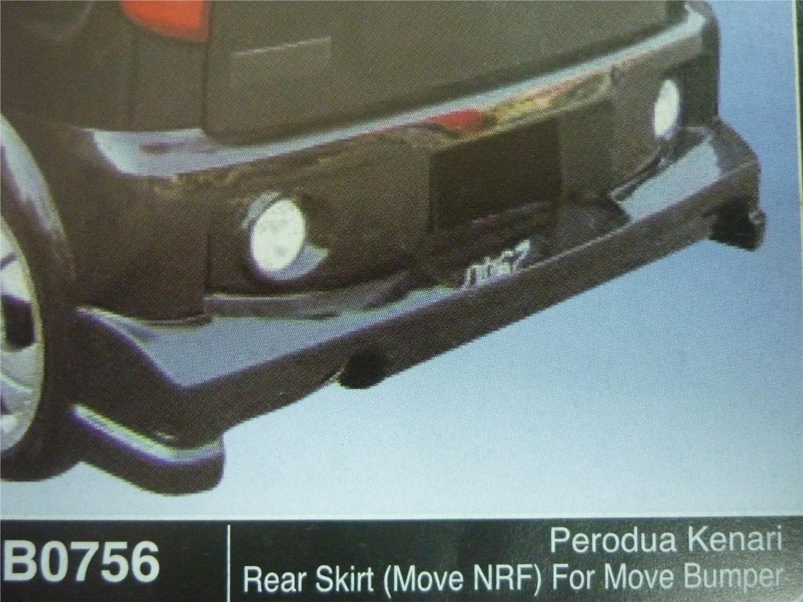 PERODUA KENARI REAR SKIRT MOVE NRF FOR MOVE BUMPER B0756