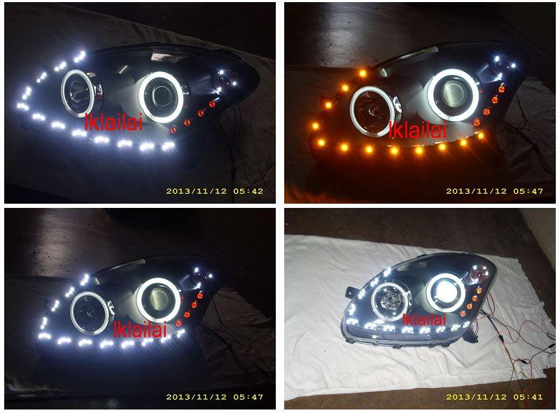 Perodua Myvi '05 CCFL Ring Projector Head Lamp 2-Function DRL R8