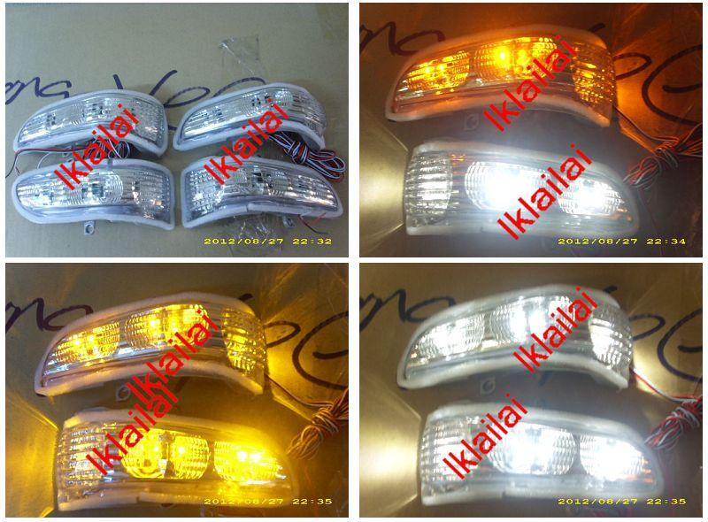 Perodua Myvi `05 Side / Door Mirror LED Only White-Amber Light [2-Func