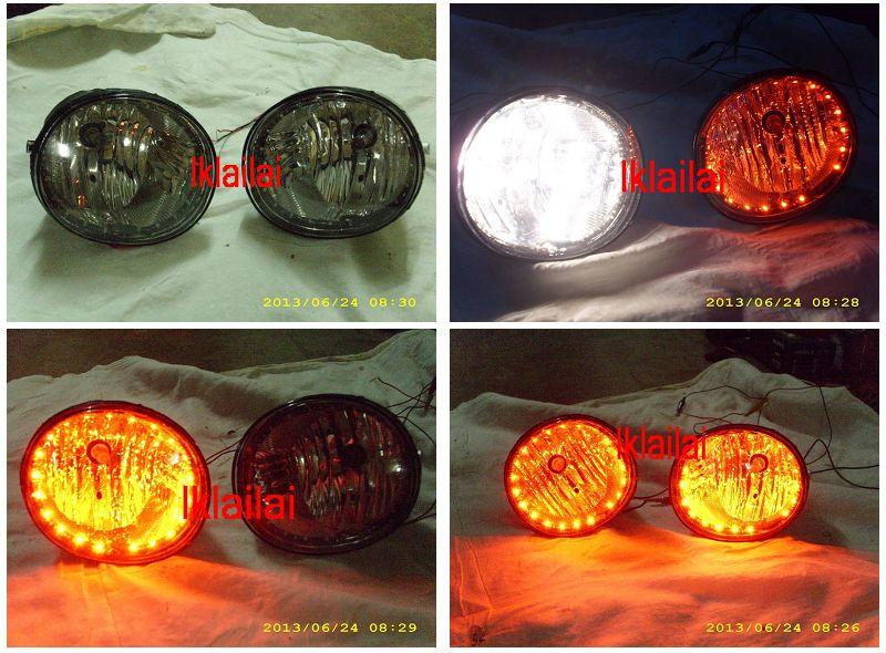 Perodua Myvi `08 SE Fog Lamp With LED Light [Blue,Red,White,Purple]