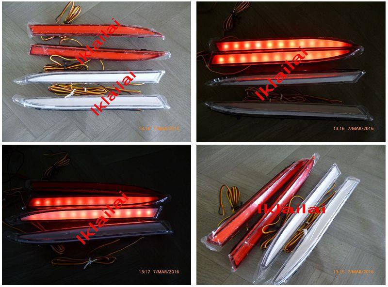 Perodua Myvi / Alza Rear Bumper Reflector with LED Light Bar