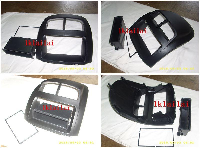 Perodua Myvi Double Din Casing Dashboard Casing Panel + Drawer [Black]