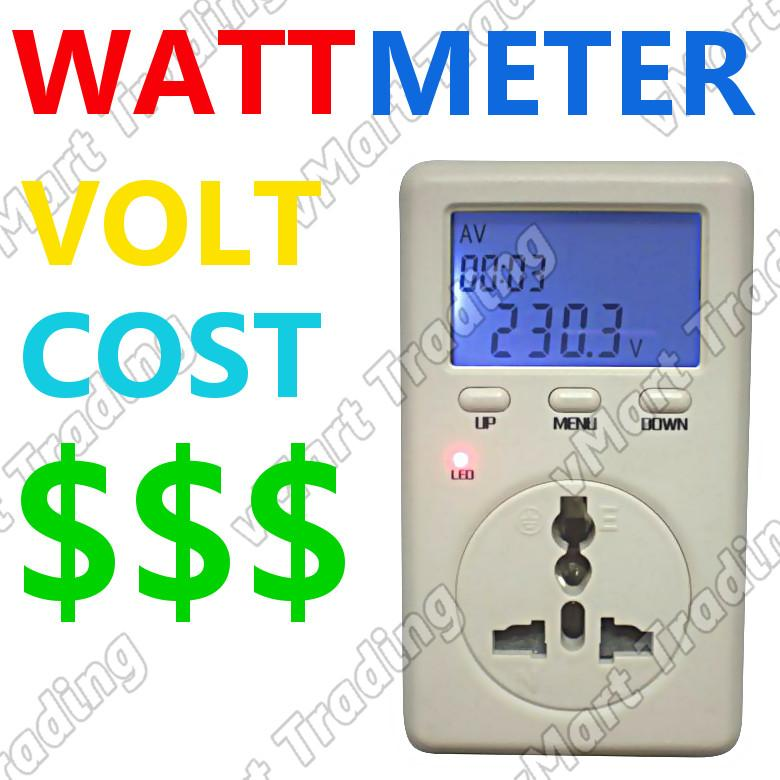 Personal Electricity Calculator Watt Voltage Meter