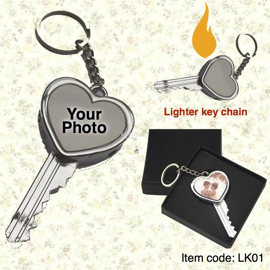 Personalised DIY Lighter Key Chain (Print your own photo)