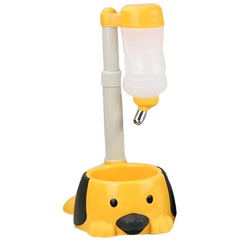 Pet Adjustable Water Food Feeder Bowl Bottle