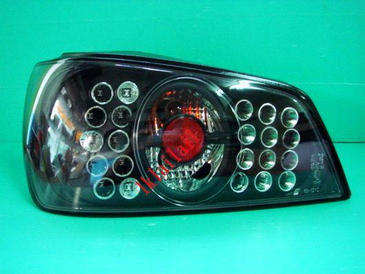 PEUGEOT 306 N5 '97-02 Double LED Tail Lamp [Black Housing]