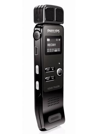 PHILIPS 4GB DIGITAL VOICE RECORDER, VTR7000/93, BLK