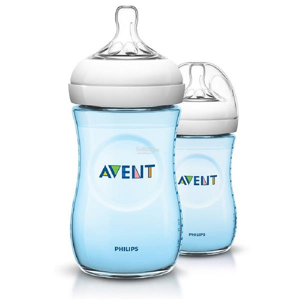Philips Avent Natural 9oz/260ml Model SCF695/27 SE Twin Pack (Blue)