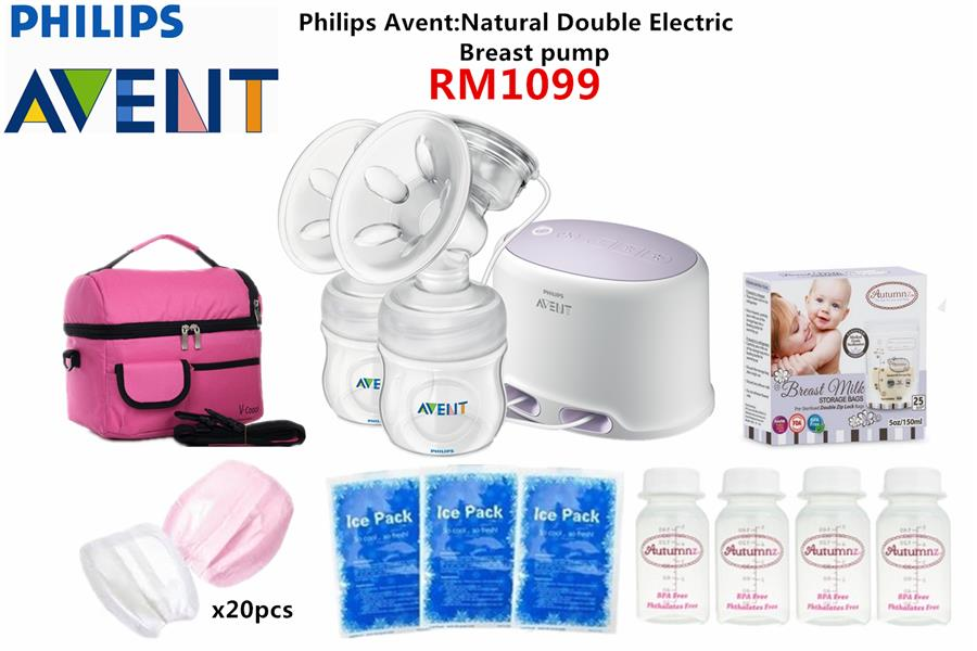 Philips Avent:Natural Double Electric Breast Pump Package