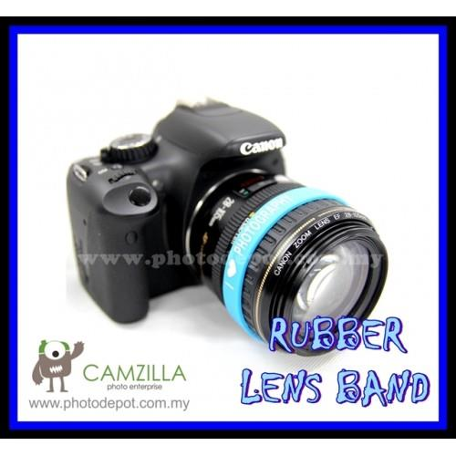PHOTOGRAPHY Logo Silicone SKY BLUE Rubber Lens Band , Flash Band