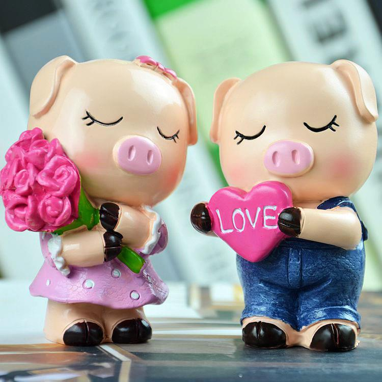 Little Piggy Lovers Home Furnishing Decoration
